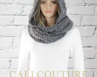 Vancouver Hooded Scarf Pattern #31 - Crochet Hooded Infinity Scarf Pattern - Crochet Scarf PATTERN - Digital Download - Not a Physical Scarf