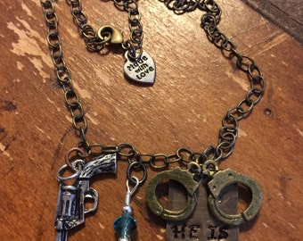 He is my Hero charm necklace