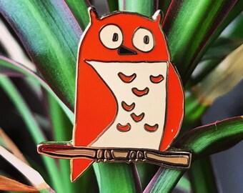 Red bird - enamel pin - kawaii