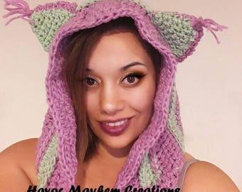 Crochet Cat Hood