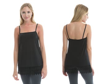 Black Lace Shirt Extender Camisole