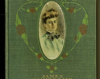 Antique Decor Book An Old Sweetheart of Mine James Whitcomb Riley 1902 Green Cloth Vintage Poems Poetry Romantic Valentines Gifts for Her