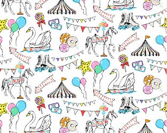 Fun at the Fair by TasherellaKitty-  fabric - Cotton/ Polyester/ Jersey/ Canvas/ Digital Printed