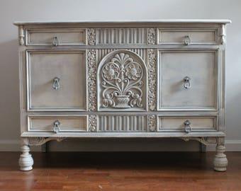 SOLD ***Vintage Grey/Cream Dresser/ Changing Table/Dresser Set**