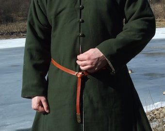 Men's Viking coat with lining for Early Middle Ages, Birka pattern, historical reenactment