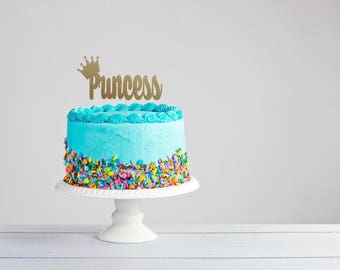 Princess Cake Topper- Princess Party- Princess Birthday- Personalized Princess Topper- Princess Party Decor