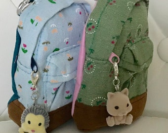 FREE US Shipping Blue or Green Backpack with Charm