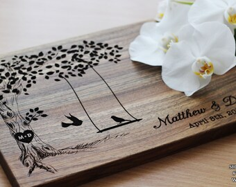 Personalized Wedding Gift for CoupleCutting Board Wedding Engagement gift Wedding Gifts For Bride Bridal Shower Gift House warming gift #1