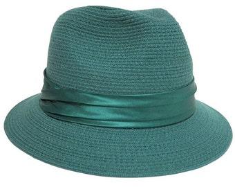 Emerald Wool Fedora Hat