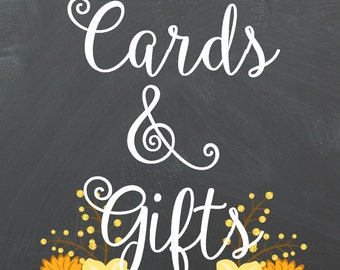 Cards & Gifts 5x7 Chalkboard Printable