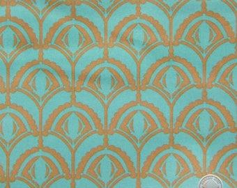 140258200 - Anna Maria Horner Drawing Room Plume Teal FULL BOLT
