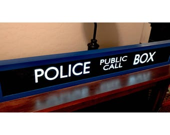 Police Public Call Box - TARDIS - Lighted Sign - Doctor Who w/remote control