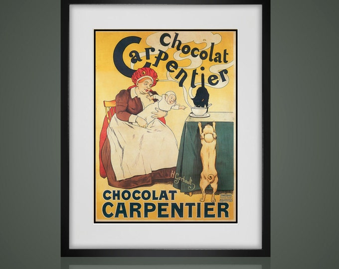 Vintage Advertising Art -  Matted And Framed - Free Shipping - Black or White Frames -  Available In 4 Sizes -  Kitchen Decor