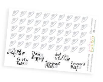 Engagement Rings (Gender Inclusive) - Planner Stickers