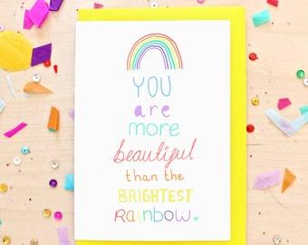 Brightest Rainbow Greeting Card