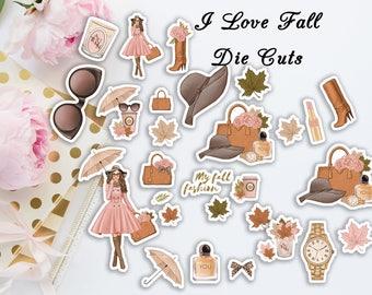 I Love Fall Die Cuts