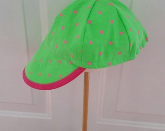 Child's Six Panel Florescent Green Cap