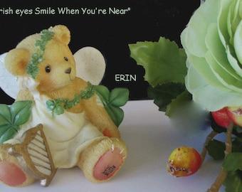 Bear Angel Figurine * ERIN * Priscilla Hillman * My Irish Eyes Are Smiling Figurine * Enesco
