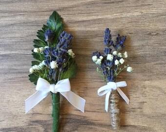 Ring Bearer - Lavender Boutonniere - Stunning