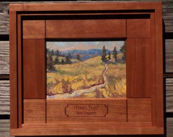 Original oil painting, 'Tivoli Trail', in hardwood frame also created by the artist.