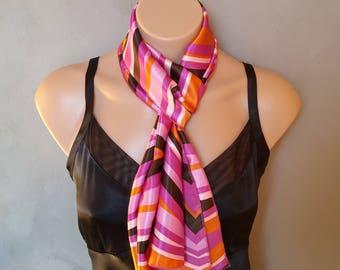 Pink Scarf, Orange Satin Scarf, Black Scarf, Pink Skinny Scarf, Satin Orange scarf, Satin Scarf Pink, Scarf Black, Free Shipping on 35
