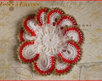 Doily flower Christmas crochet cotton
