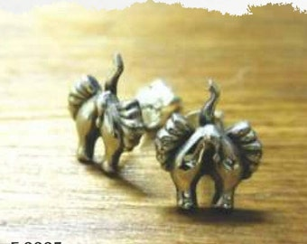 Elephant backside earring studs