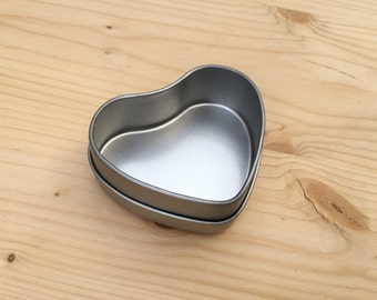 Heart Shape Metal Tins, 50ml DIY Container, Blank Magnet Box (A Set Of 50 Tins)
