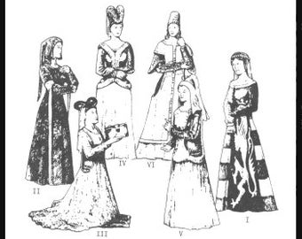 PP21 -  Women's Cotehardies and Sideless Surcoats Sewing Pattern by PeriodPatterns