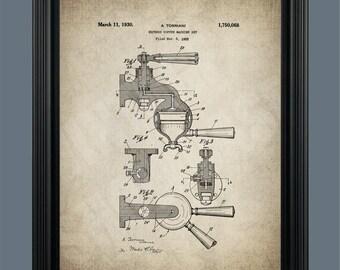 Espresso Machine Patent Print Art - Vintage Espresso Machine Art - Espresso Machine Patent Print - Coffee Art - Espresso Machine - #0127