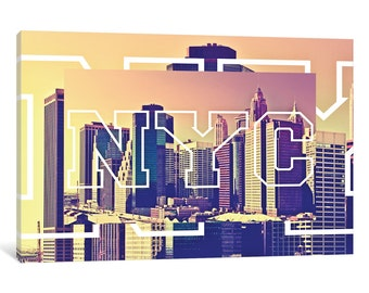 iCanvas NYC by NYC - New York Buildings Gallery Wrapped Canvas Art Print by Philippe Hugonnard