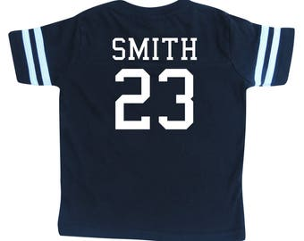 Custom Football Sport Jersey Toddler and Child Personalized with Name and Number-Back Only