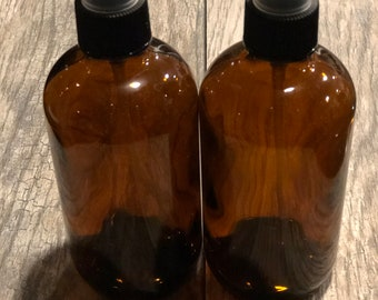 2pk. of 8oz. amber glass spray bottles