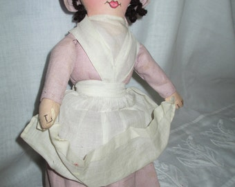Cloth Doll/Old Doll/Rare Doll/Shaker Historical Society Cloth Doll RARE c.1940's by Gatormom13 JUST REDUCED