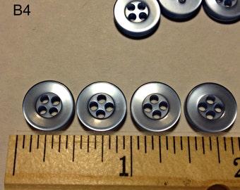 """Light Blue translucent 1/2"""" 4-hole buttons  25 pieces"""