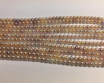 Natural Color Fresh Water Pearl - Grade A 7-7.5mm