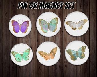 Fridge magnet   kitchen magnet   dinner gift   butterfly magnet   friend gift    host gift   party gift   butterfly gift   party favor  