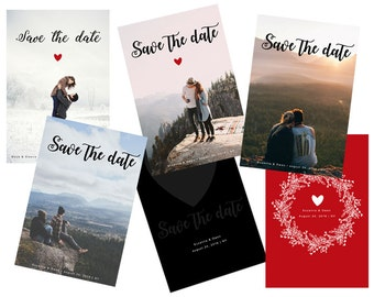 INSTANT DOWNLOAD - Save the date - Photoshop template