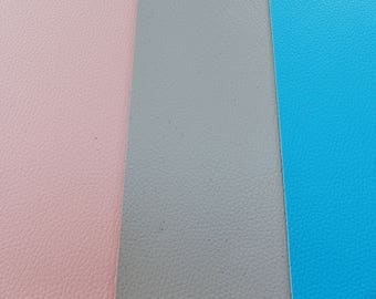 coupon sheet fabric imitation leather size 6 to 21 x 15 cm 8.2 x 5 inch gray pink or blue hobby