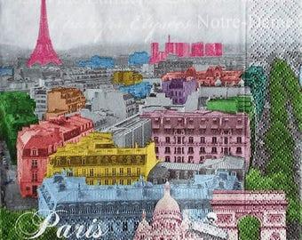 TOWEL in multicolor #DI068 Paris paper