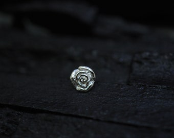 Rose flower screw flat back Tragus Earring,Cartilage earring,Tragus Piercing,flower piercing,conch piericng
