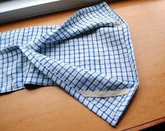 Linen Dish Towel Blue Gingham Linen Kitchen Towel Guest Towel Tea Towel Hand Towel