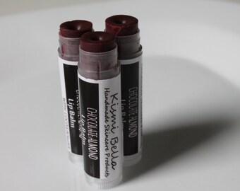 Chocolate Almond Tint Lip Balm - Beeswax/ Mango Butter Nourshing Lip Balm - Sweet Love Valentine's Day