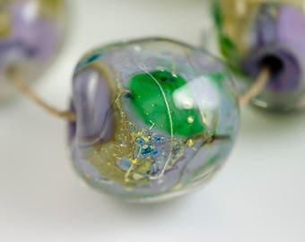 Graceful -- Lampwork Glass Nugget Beads