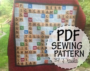 Scrabble Quilt Pattern
