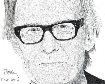 Art Print - Pen & Ink Drawing, A4 - Bill Nighy