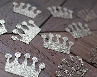 Princess crown confetti 50 pcs   Gold crown confetti   Princess baby shower decorations   Princess birthday confetti   Gold table confetti