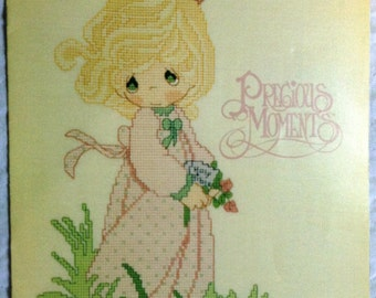 Vintage Precious Moments Cross Stitch Pattern Leaflet PM-12 ... The Voice of Spring