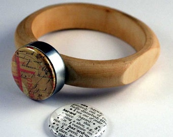 HAZARD Recycled Magnetic Wooden Bangle Bracelet from POLARITY