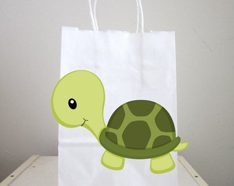Turtle Goody Bags, Turtle Favor Bags, Turtle Gift Bags
